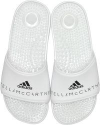 f5d665f4d084 adidas By Stella McCartney - Adissage White Slide Pool Sandals - Lyst