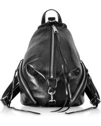 Rebecca Minkoff - Black Quilted Nappa Leather Medium Julian Backpack - Lyst