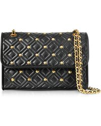 Tory Burch - Fleming Stud Quilted Leather Small Convertible Shoulder Bag - Lyst