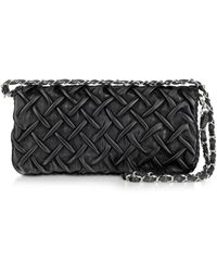 Fontanelli - Pleated Nappa Leather Clutch - Lyst