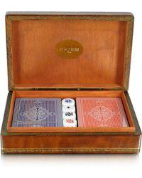 FORZIERI - Genuine Leather Game Box - Lyst