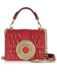 Gedebe Gio Small Nappa Leather & Crystal Handbag - Rojo