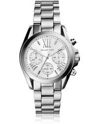 Michael Kors Mini Bradshaw Silver Tone Women's Watch - Mettallic