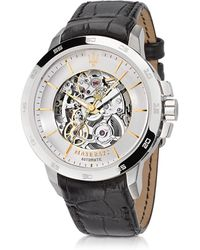 """Maserati Reloj """"Ingegno"""" para Hombre de Acero y Correa de Cuero - Metálico"""