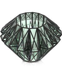 Vojd Studios Translucent Glass Cage Statement Cuff - Black