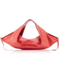 3.1 Phillip Lim Scarlet Leather Luna Mini Slouchy Hobo Bag - Red