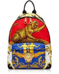 Versace - Pillow Talk Printed Nylon Backpack - Lyst