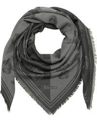 KENZO - Dark Grey Cotton And Modal Tiger Wrap - Lyst