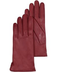 FORZIERI - Burgundy Leather Women's Gloves W/cashmere Lining - Lyst