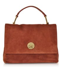 Coccinelle - Liya Medium Suede Satchel Bag - Lyst