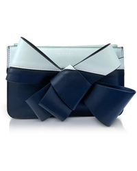 Delpozo - Striped Leather Mini Bow Clutch - Lyst