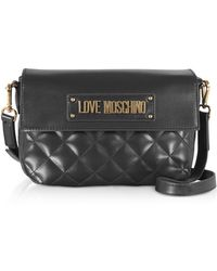 Love Moschino Quilted Eco-leather Shoulder Bag - Black