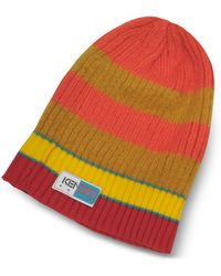 KENZO Orange & Yellow Stripy Wool Beanie - Naranja