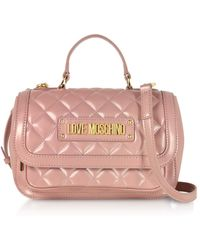 Love Moschino - New Quilted Eco Leather Top Handle - Lyst