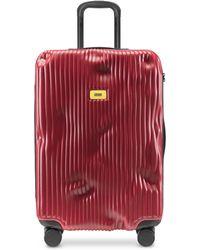 Crash Baggage Stripes Trolley Medio in Policarbonato a Righe - Rosso