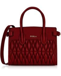 Furla - Quilted Nappa Leather Pin Cometa Mini Crossbody - Lyst