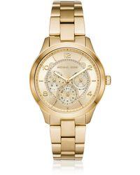Michael Kors Runway Gold Tone Multi-function Watch - Mettallic