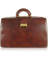 FORZIERI - Grand sac style docteur en cuir italien marron - Lyst