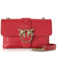 Pinko Red Love Mini Soft Simply Shoulder Bag - Rot