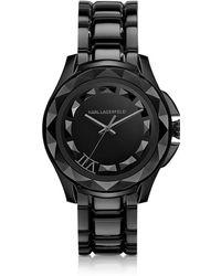 Karl Lagerfeld - Karl 7 43.5 Mm Black Ip Stainless Steel Unisex Watch - Lyst