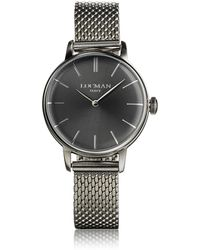 LOCMAN - 1960 Silver Stainless Steel Women's Watch - Lyst