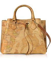 Alviero Martini 1A Classe - Geo Print Woven Leather Frida Bag - Lyst
