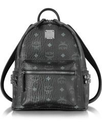 MCM - Black Mini Stark Backpack - Lyst