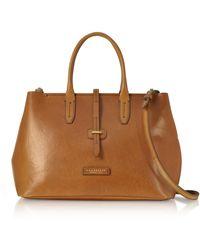 The Bridge Dalston Large Leather Tote Bag W/shoulder Strap - Brown