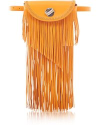 3.1 Phillip Lim Hudson Sunglasses Case Crossbody Bag w/Fringe - Orange
