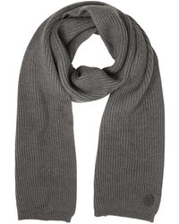 DSquared² Solid Wool Knit Men's Long Scarf - Grau
