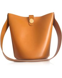 Sophie Hulme - Shiny Saddle Leather The Swing Bag - Lyst