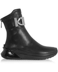 Balmain B-Glove Sneakers en Nappa Noire
