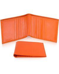 Giorgio Fedon - Classica - Men's Orange Calfskin Card Holder Wallet - Lyst