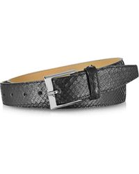 FORZIERI - Black Python Leather Men's Belt - Lyst
