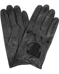 FORZIERI - Men's Black Italian Leather Driving Gloves - Lyst