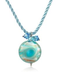 House of Murano - Vortice - Turquoise Murano Glass Small Swirling Bead Necklace - Lyst