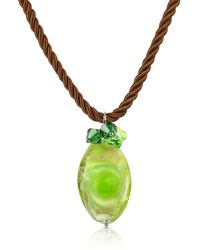 House of Murano - Vortice - Lime Murano Glass Swirling Drop Necklace - Lyst