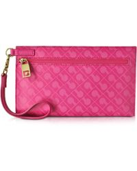 Gherardini - Gadget Softy Fabric And Leather Cosmetic Clutch - Lyst