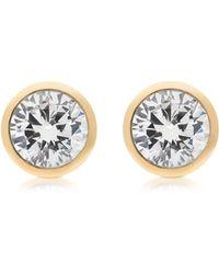 Michael Kors - Brilliance Metal And Crystal Stud Earrings - Lyst