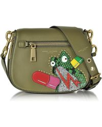 Marc Jacobs Army Green Leather Verhoeven Frog Small Nomad Shoulder Bag