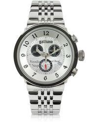 John Galliano - Chrono Stainless Steel Men's Watch - Lyst