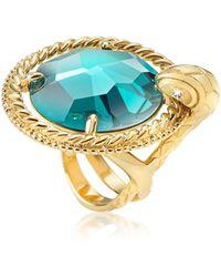 Just Cavalli | Just Queen Crystal Golden Ring | Lyst