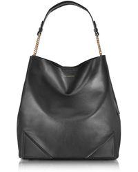Karl Lagerfeld Black Leather K/slouchy Hobo