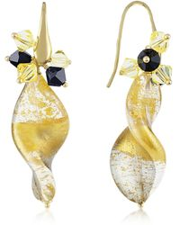 Naoto - Gold Foil Drop Earrings - Lyst