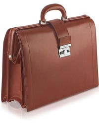 Pineider - Power Elegance - Brown Leather Diplomatic Briefcase - Lyst