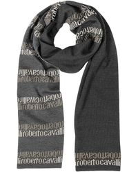 Roberto Cavalli - Signature Double Face Wool Blend Men's Scarf - Lyst