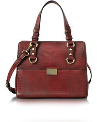 Roccobarocco - Small Lizard Print Eco Leather Tote Bag - Lyst