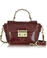 Roccobarocco | Mini Croco Embossed Eco Leather Shoulder Bag | Lyst