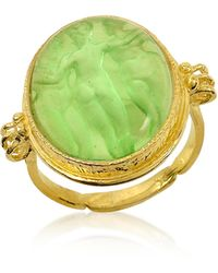 Tagliamonte - Three Graces - 18k Gold Green Mother Of Pearl Cameo Ring - Lyst