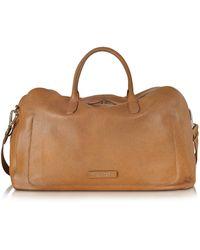 The Bridge - Brown Leather Duffle Bag - Lyst